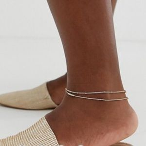 ASOS 2 fine ball charm anklets